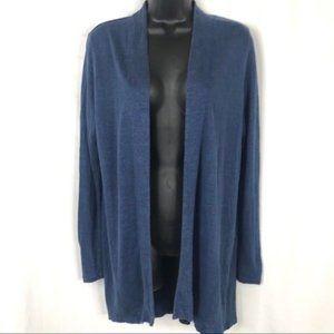 J. Jill Love Linen Blue Open Cardigan